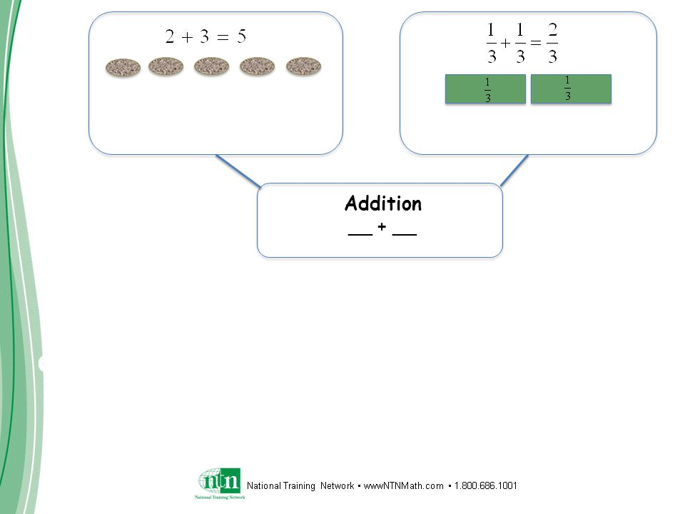 Connecting Learning Addition __ + __