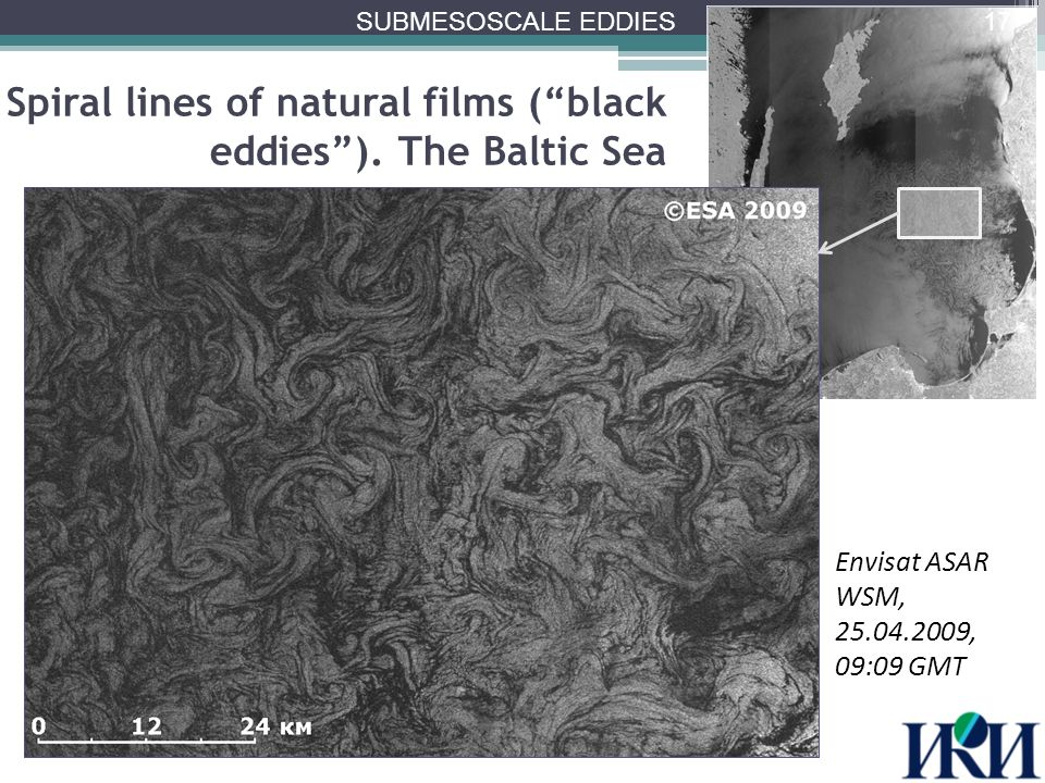 Spiral lines of natural films ( black eddies ).
