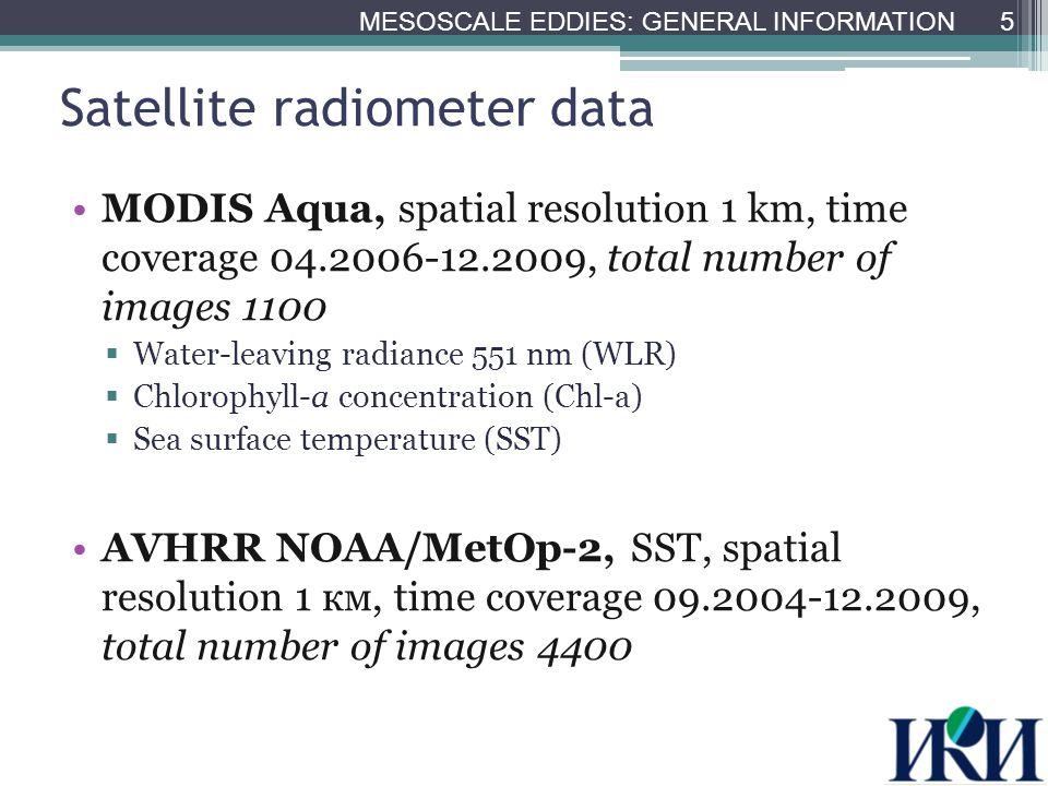 Image examples (20.06.2006) 6 MESOSCALE EDDIES MODIS WLR MODIS SST AVHRR SST MODIS Chl-a