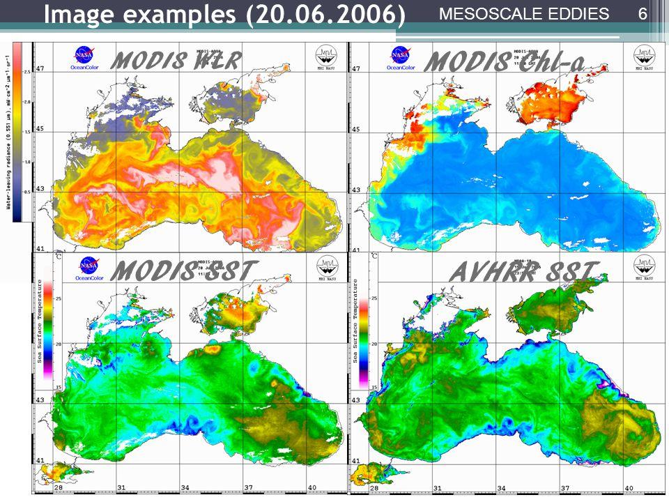 Frontal eddies Envisat ASAR 08.04.2009 08:07 GMT WLRChl-aSST 27 SAR AND RADIOMETER DATA COMPARISON