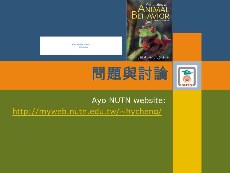 Ayo NUTN website: http://myweb.nutn.edu.tw/~hycheng/ 問題與討論