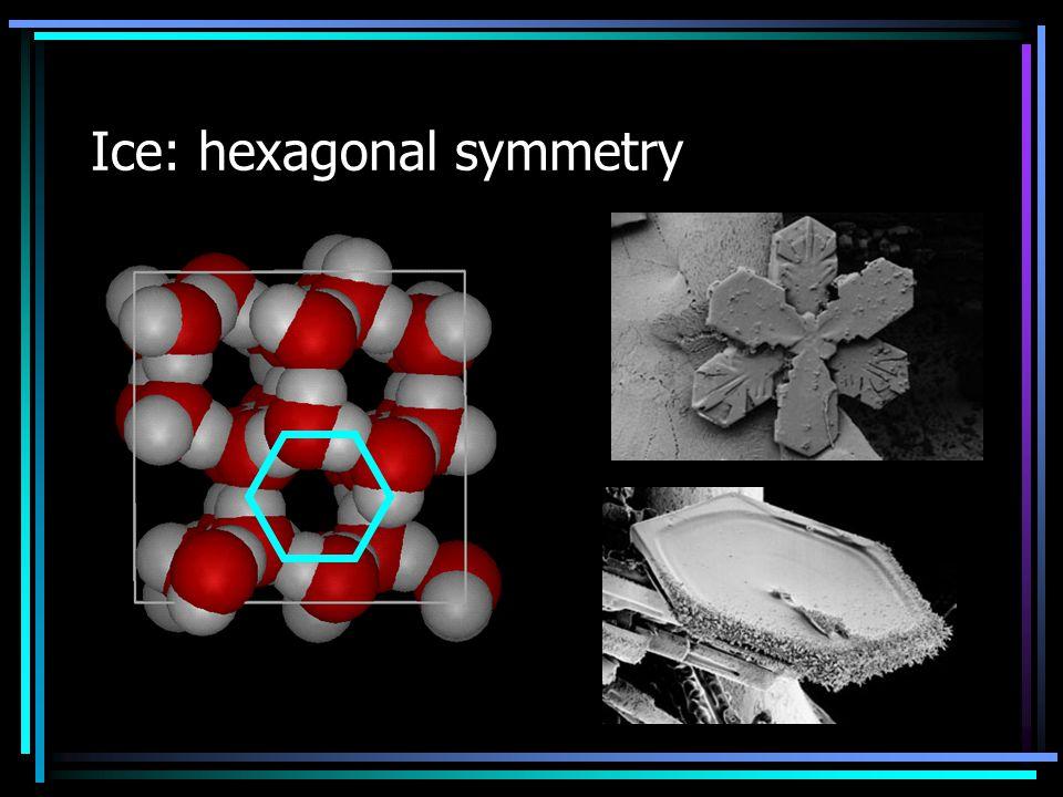 Ice: hexagonal symmetry