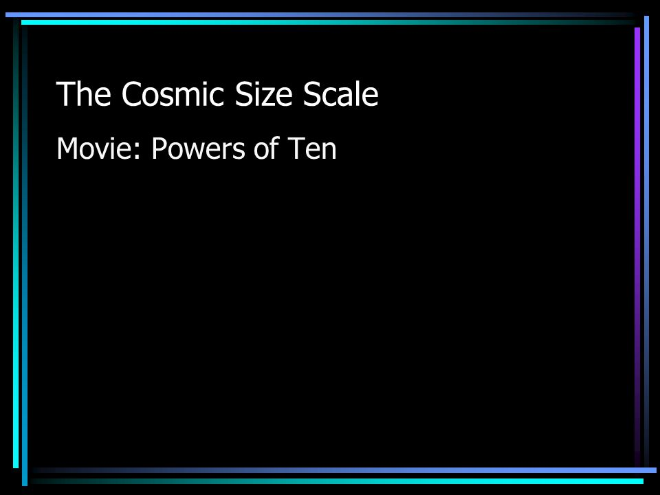 The Cosmic Size Scale Movie: Powers of Ten