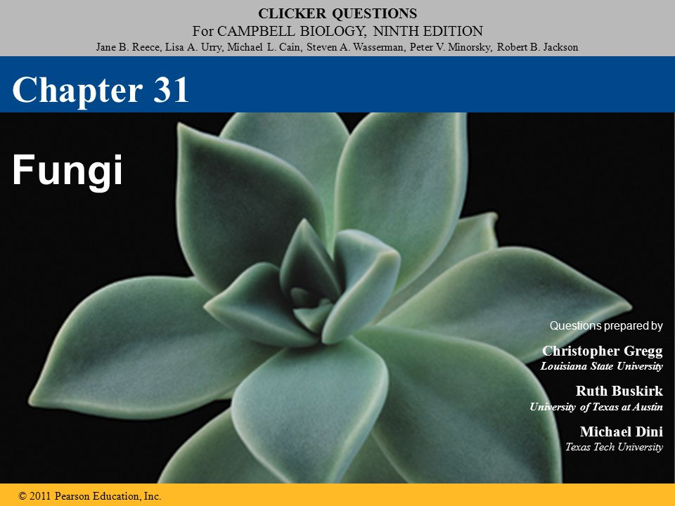 Click to edit Master title style Click to edit Master subtitle style CLICKER QUESTIONS For CAMPBELL BIOLOGY, NINTH EDITION Jane B.