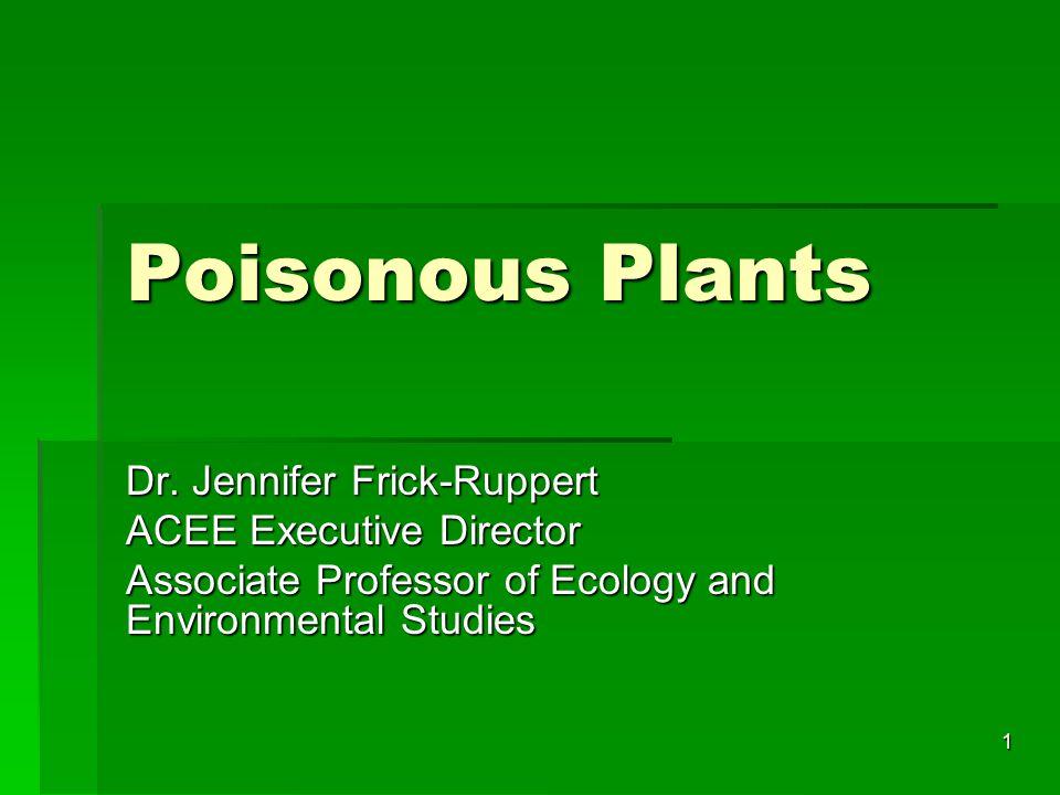 1 Poisonous Plants Dr.