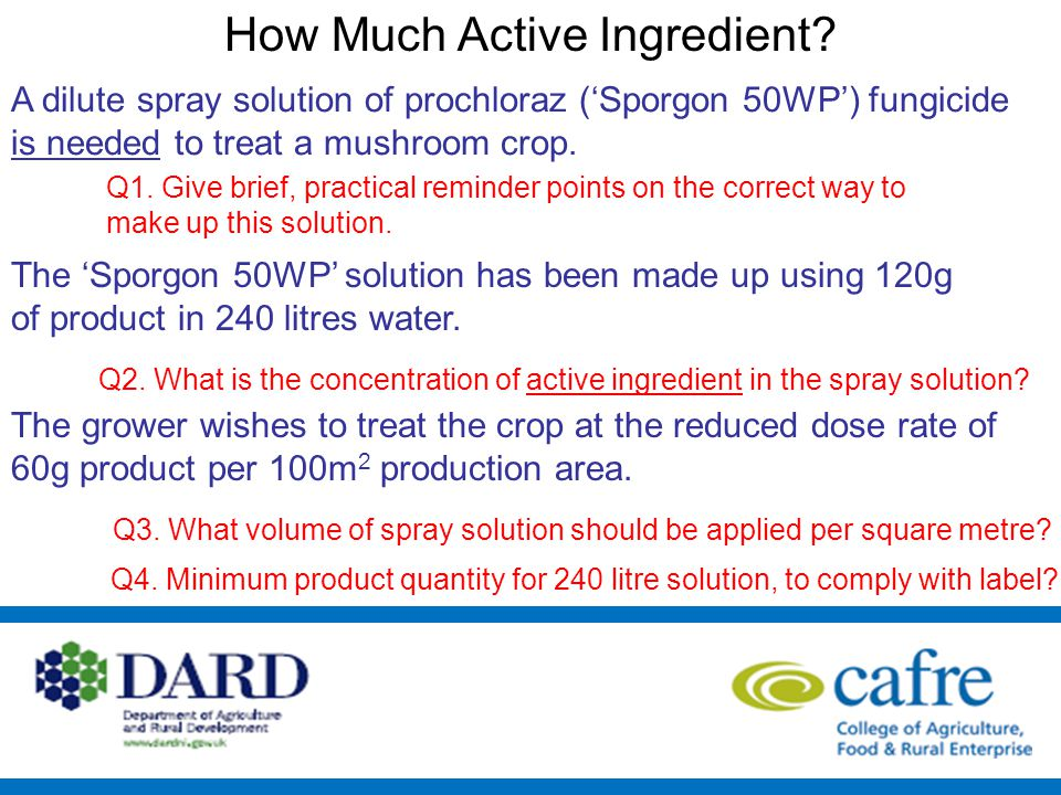 How Much Active Ingredient.