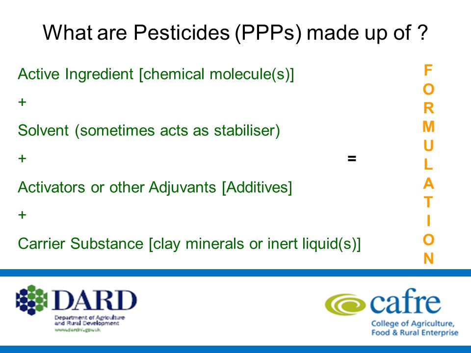 What is a pesticide FORMULATION.