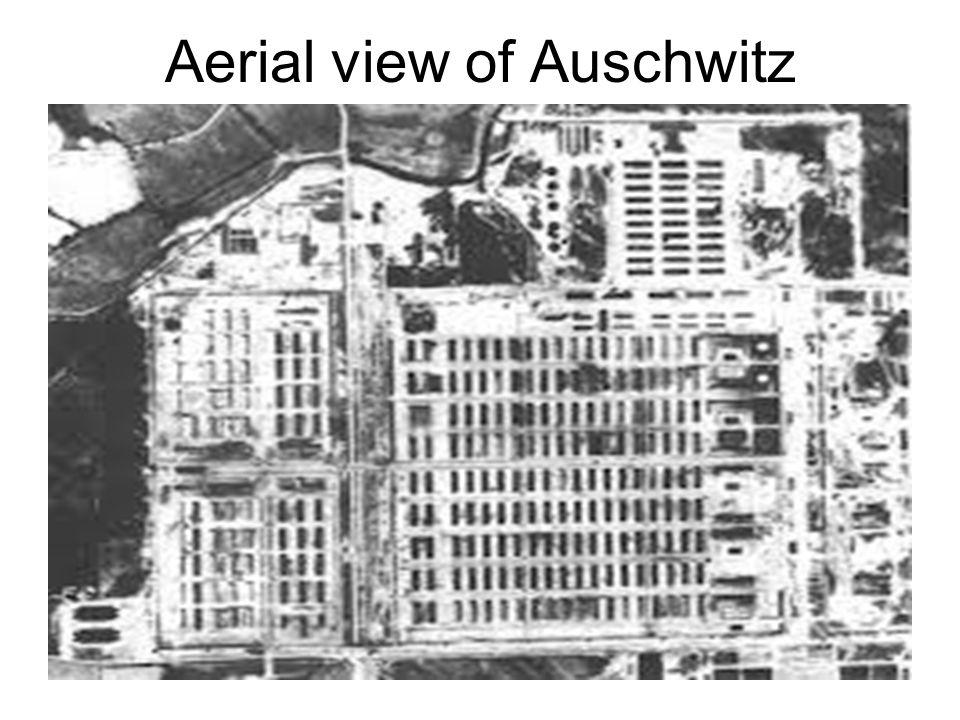Aerial view of Auschwitz
