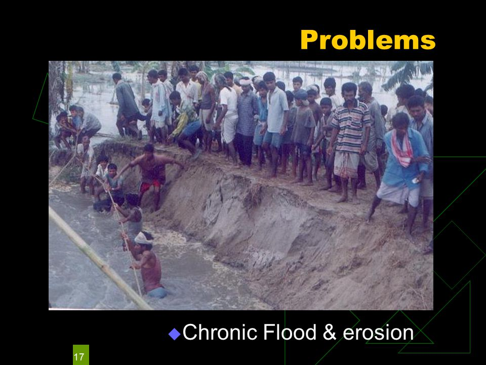 17 Problems  Chronic Flood & erosion