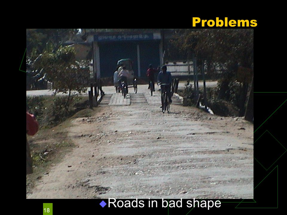 18 Problems  Roads in bad shape