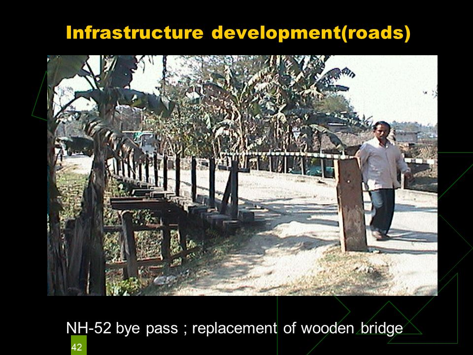 42 Infrastructure development(roads) NH-52 bye pass ; replacement of wooden bridge