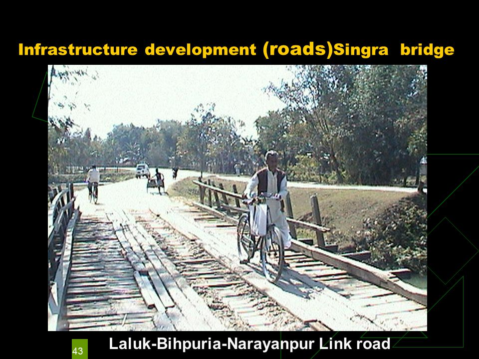 43 Infrastructure development (roads) Singra bridge Laluk-Bihpuria-Narayanpur Link road