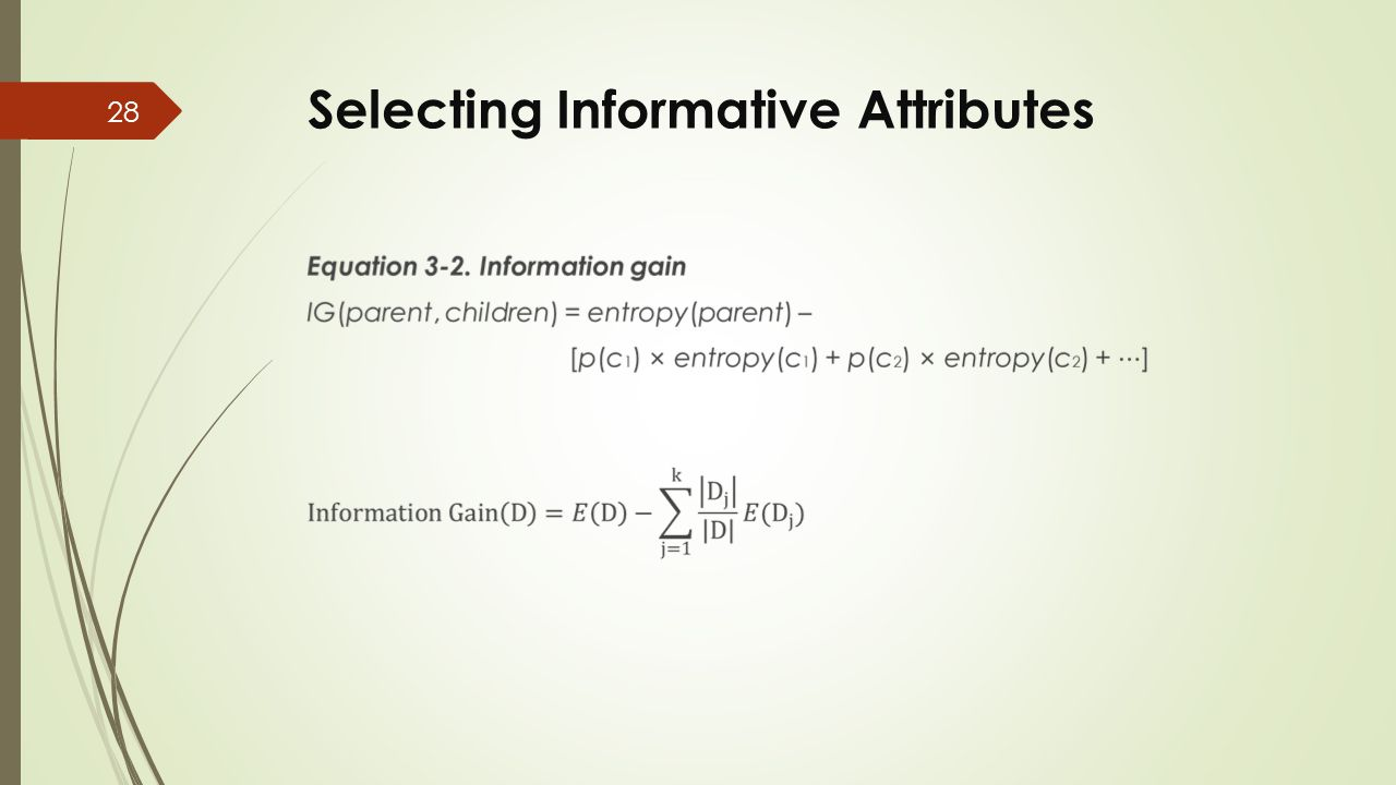 Selecting Informative Attributes 28