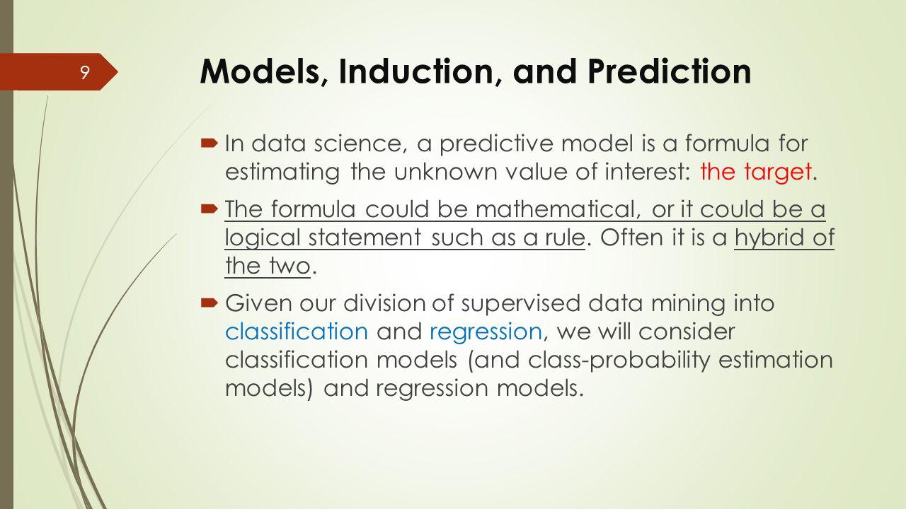 Outline  Models, Induction, and Prediction  Supervised Segmentation  Selecting Informative Attributes  Example: Attribute Selection with Information Gain  Supervised Segmentation with Tree-Structured Models 20
