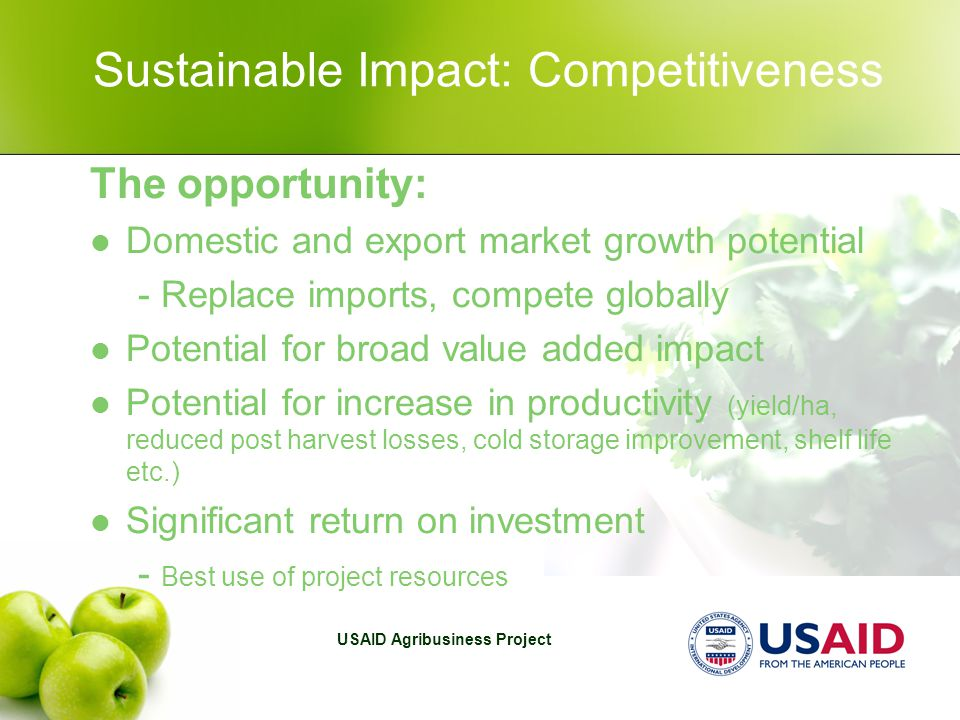 USAID Agribusiness Project Vegetables