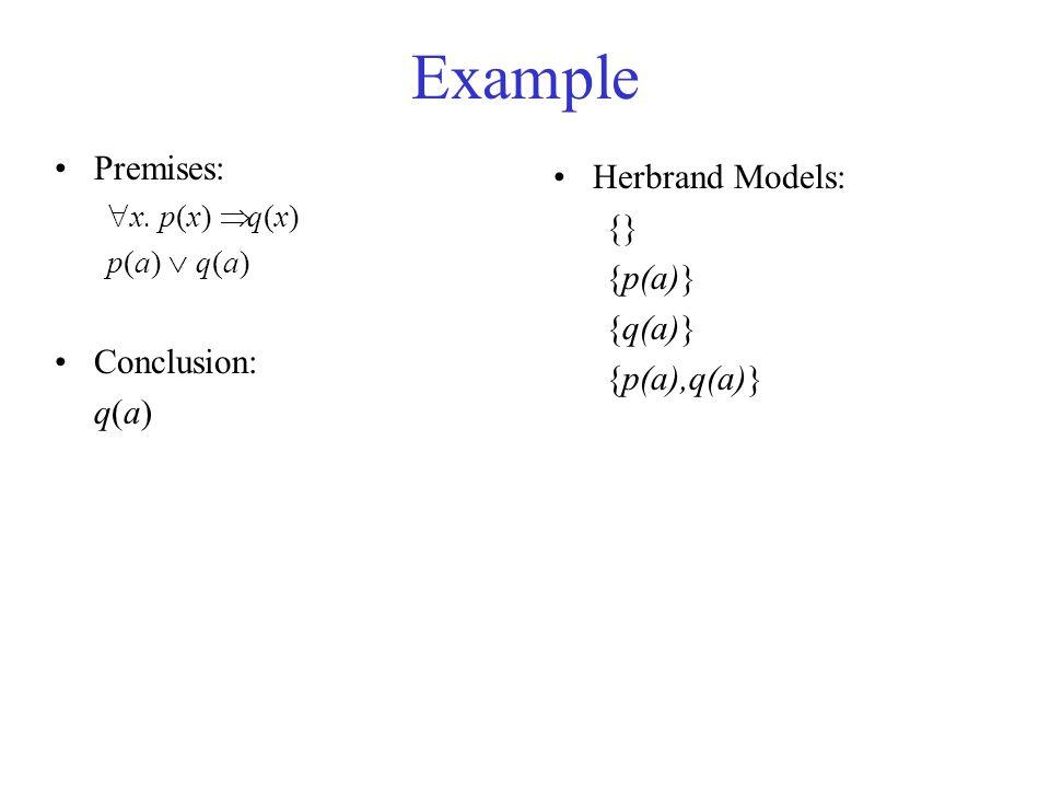 Example Premises:  x.