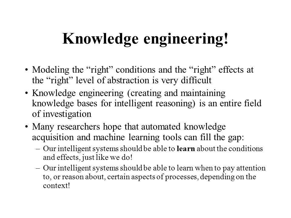 Knowledge engineering.