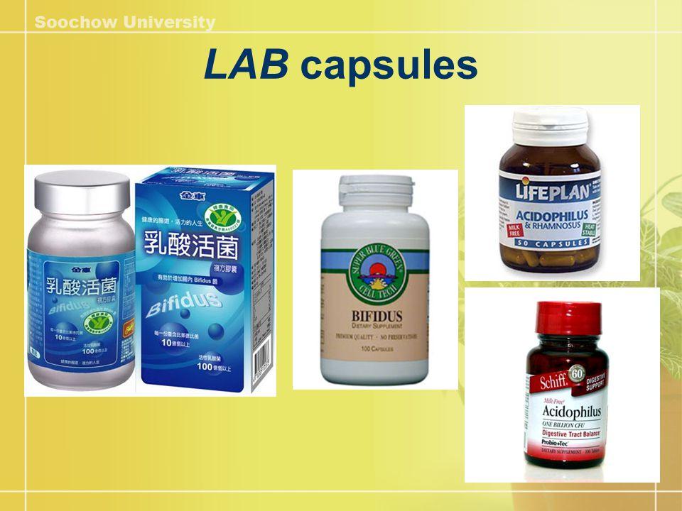 LAB capsules