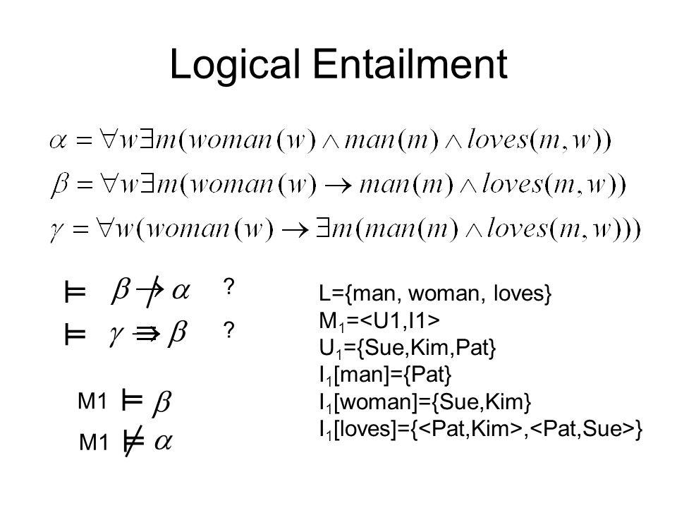 Logical Entailment .