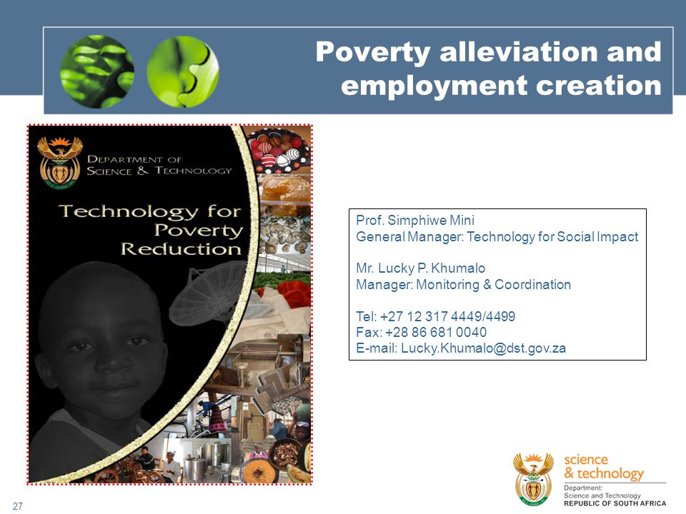 27 Poverty alleviation and employment creation Prof.