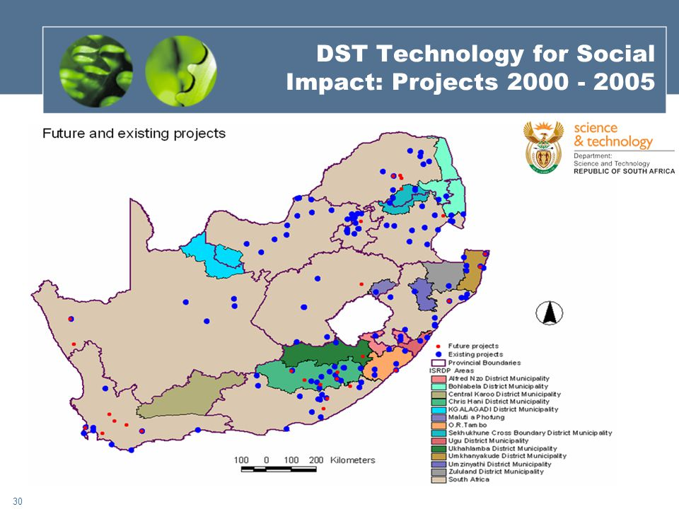 30 DST Technology for Social Impact: Projects 2000 - 2005