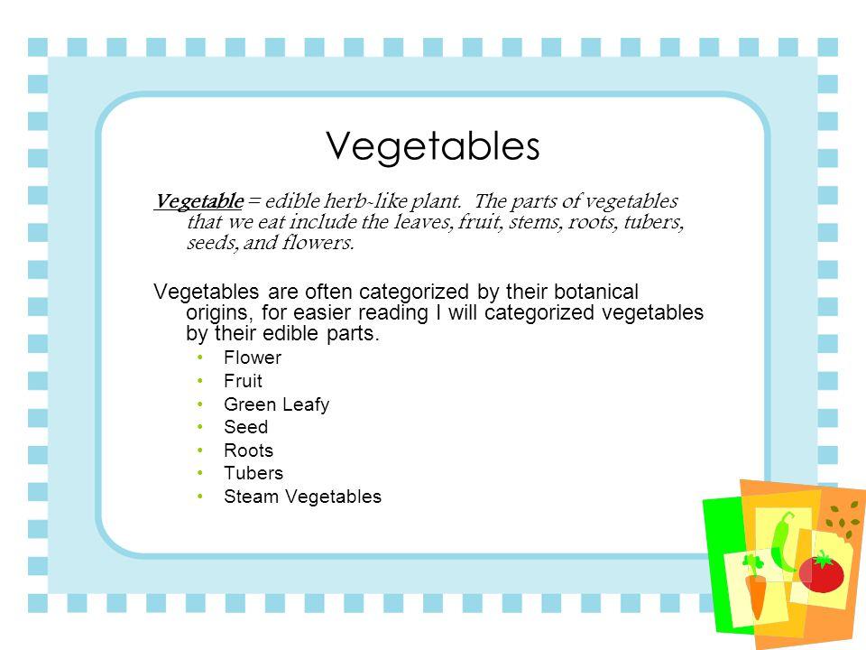 Identifying Vegetables 11.2