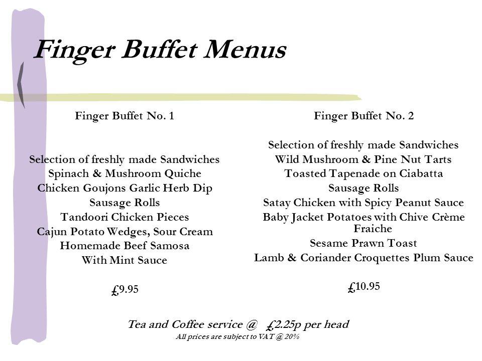 Finger Buffet Menus Finger Buffet No.