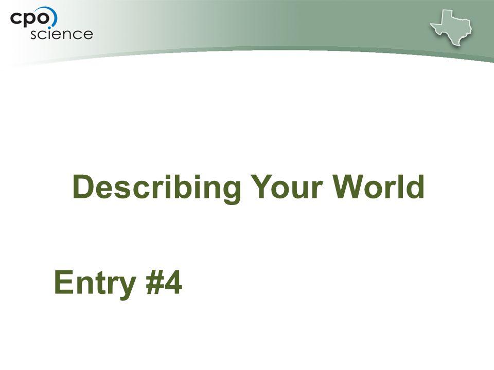 Describing Your World Entry #4
