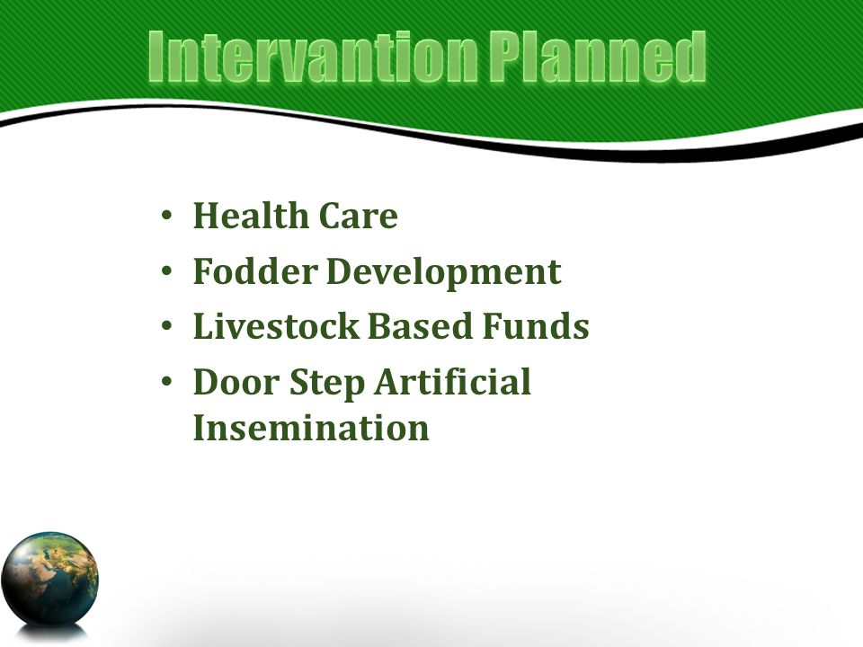 Health Care Fodder Development Livestock Based Funds Door Step Artificial Insemination