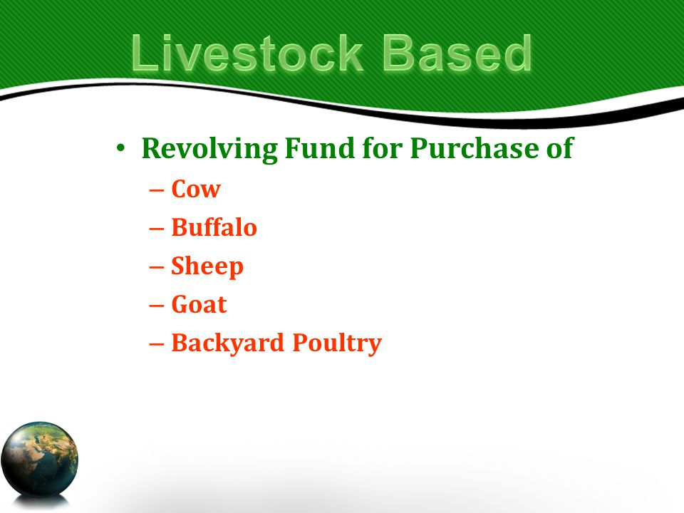 Revolving Fund for Purchase of – Cow – Buffalo – Sheep – Goat – Backyard Poultry