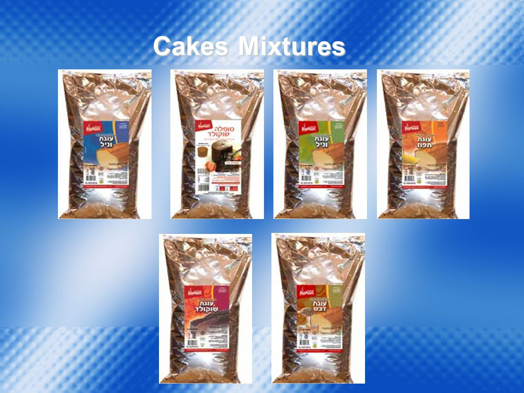 Vanilla Cake Mix Chocolate Cake Mix Orange Cake Mix Honey Cake Mix Cakes Pre-Mix Poppy Cake Mix Net Wt.