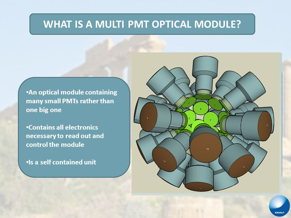 Why build a Multi PMT optical module.