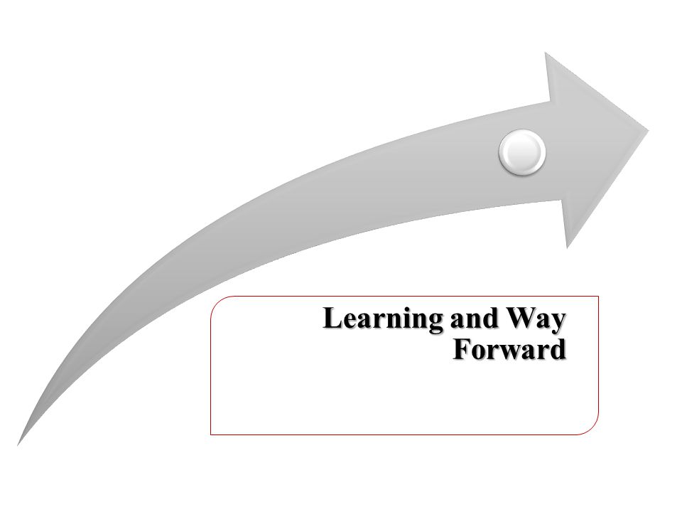 Learning and Way Forward