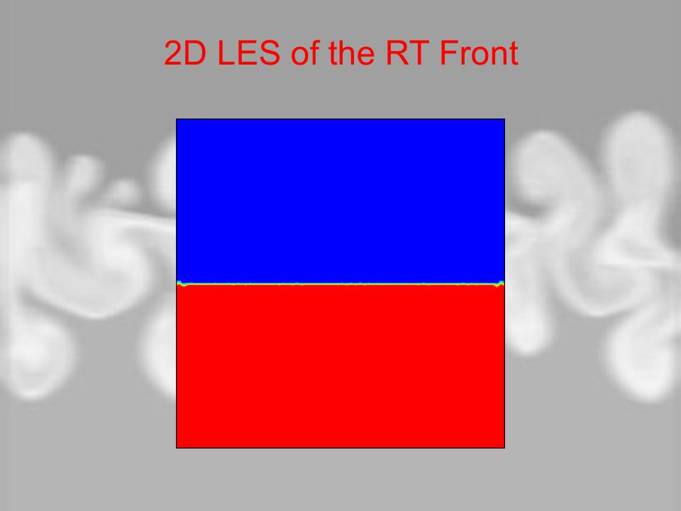 2D LES of the RT Front