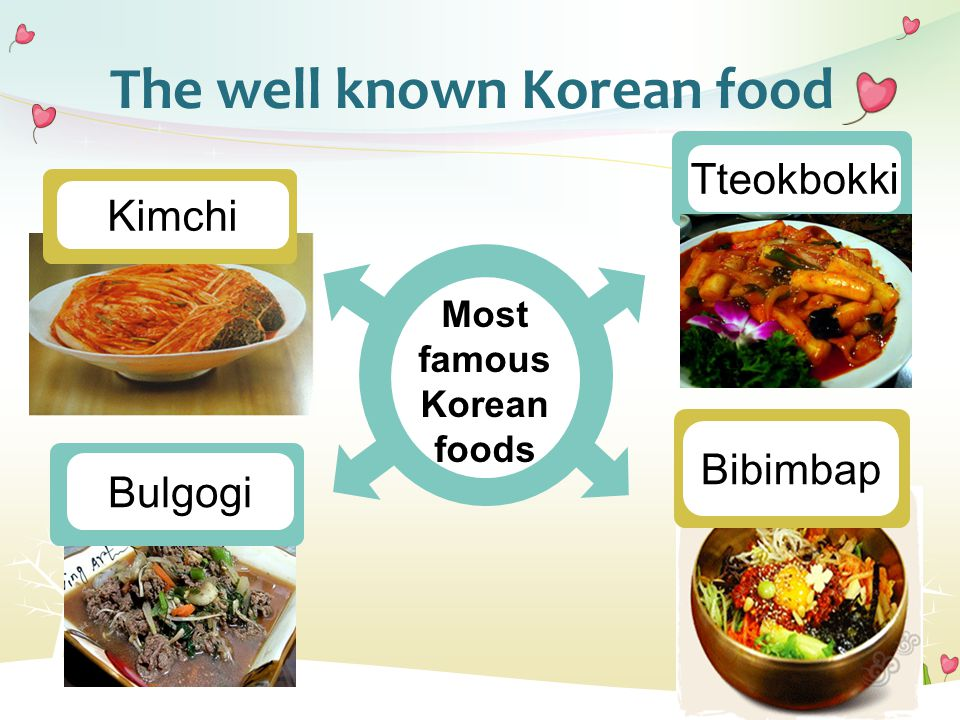 The well known Korean food Most famous Korean foods Kimchi Bulgogi Tteokbokki Bibimbap