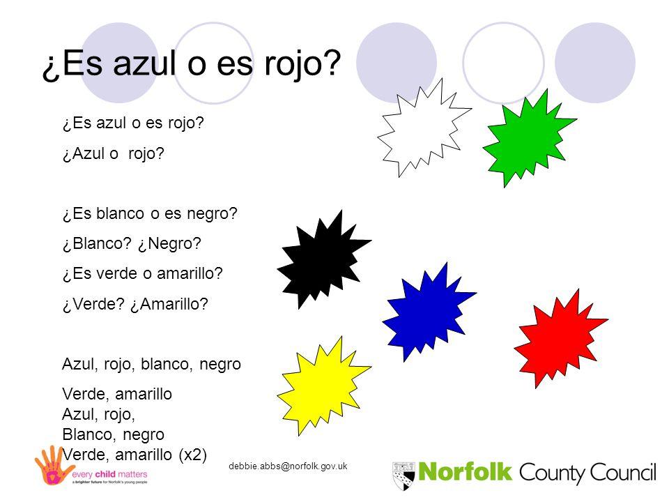 debbie.abbs@norfolk.gov.uk ¿Es azul o es rojo. ¿Azul o rojo.