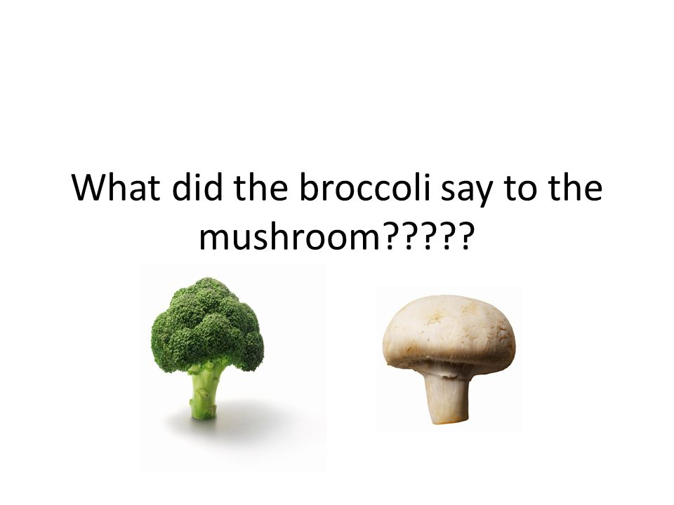 What did the broccoli say to the mushroom
