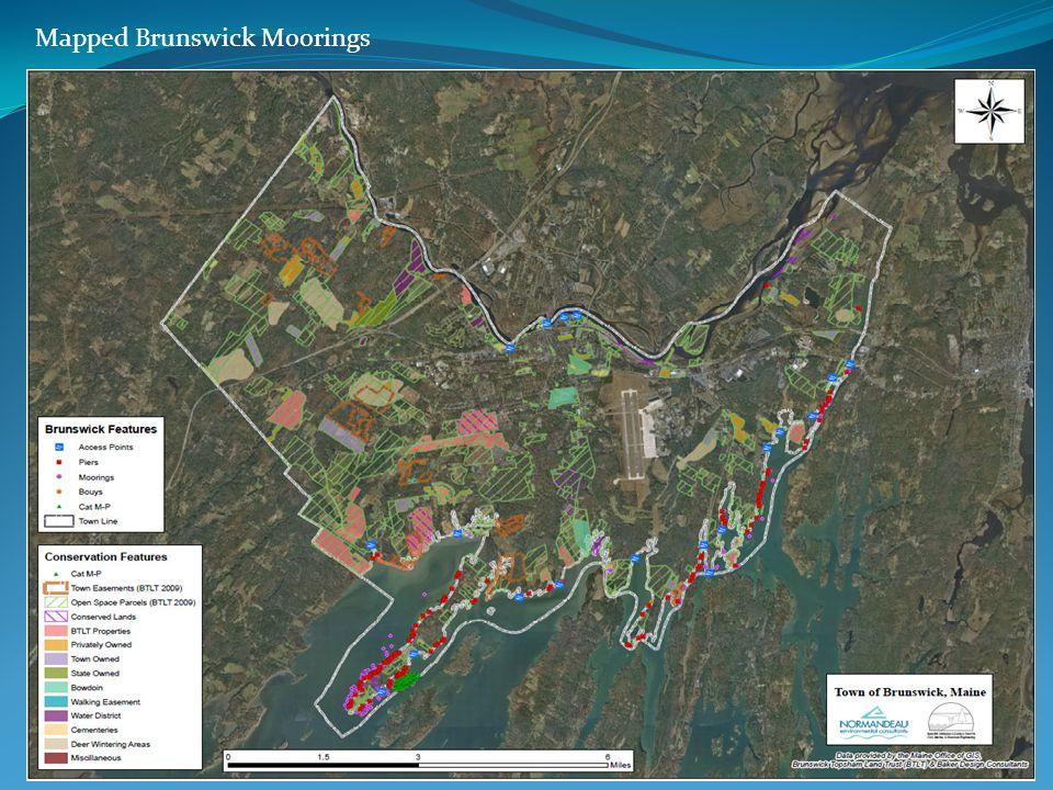 Mapped Brunswick Moorings