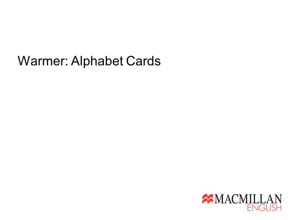 Warmer: Alphabet Cards