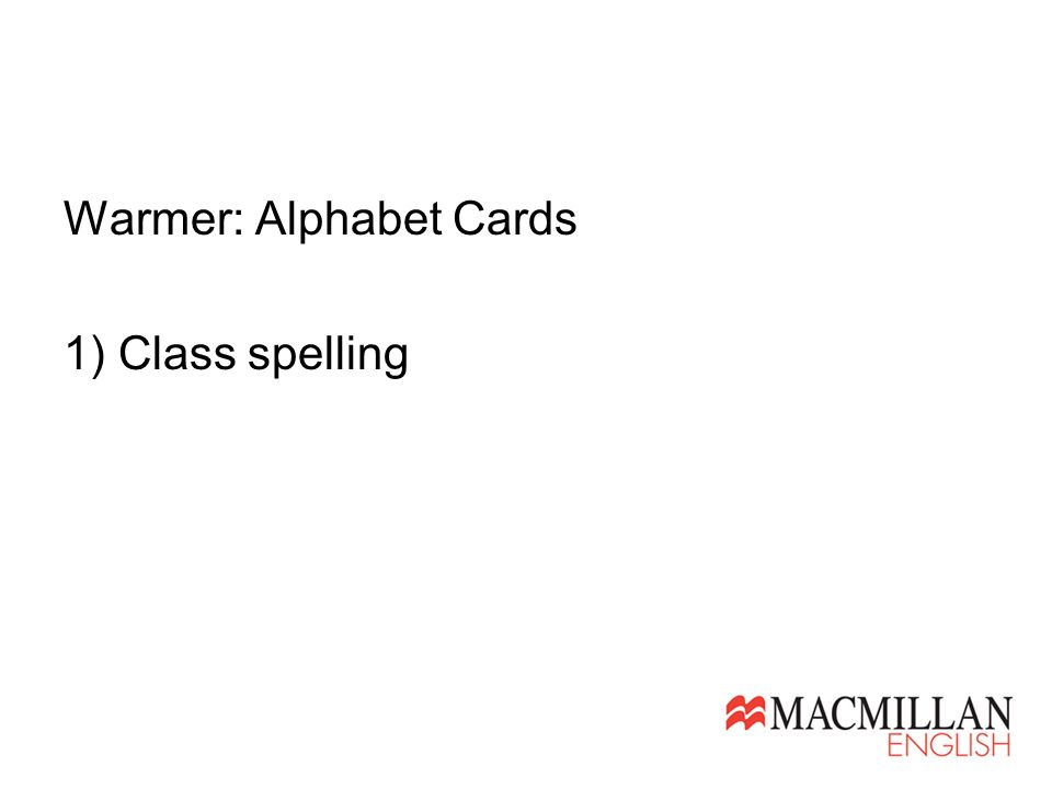 1) Class spelling