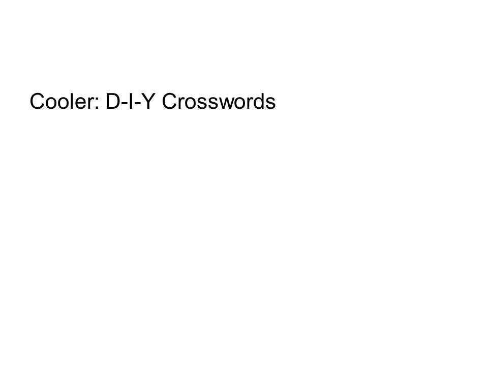 Cooler: D-I-Y Crosswords