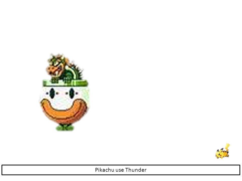 Pikachu use Thunder