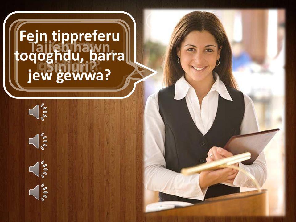 X'se tieħdu bħala t-tieni platt?