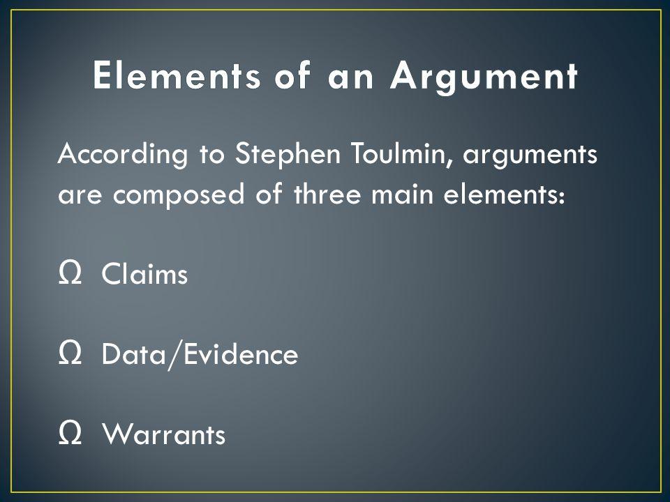 Ω What you are claiming is true.Ω Your clear and provable opinion about the subject.