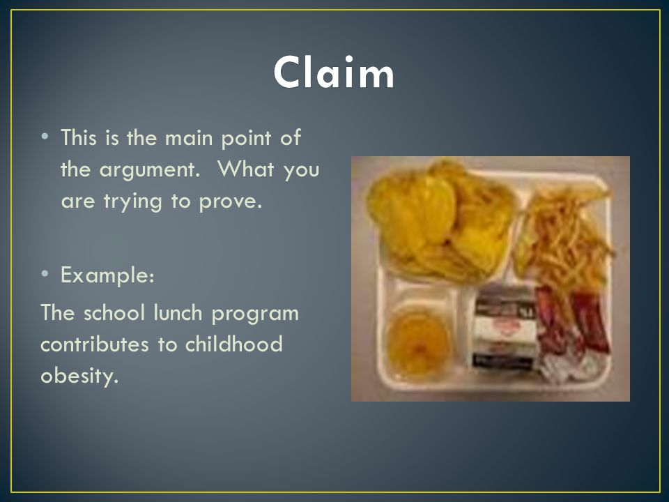 3 specific claims or main points child obesity Obesity essays essay on obesity: essay examples, topics child obesity essay the main causes of obesity are: the decreased level of nutrients intake.
