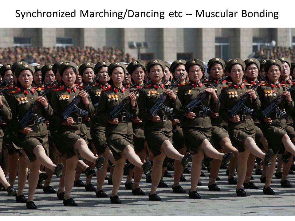 Synchronized Marching/Dancing etc -- Muscular Bonding