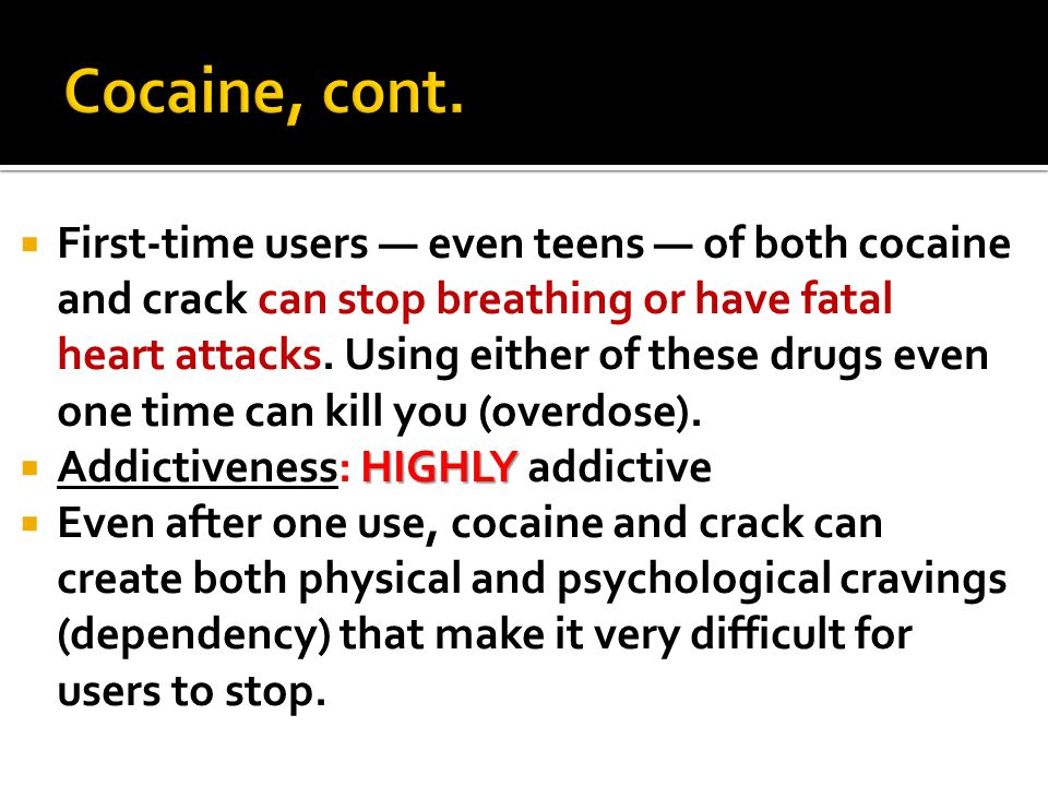  Most widely used illegal drug in the U.S. Affects mood and coordination.