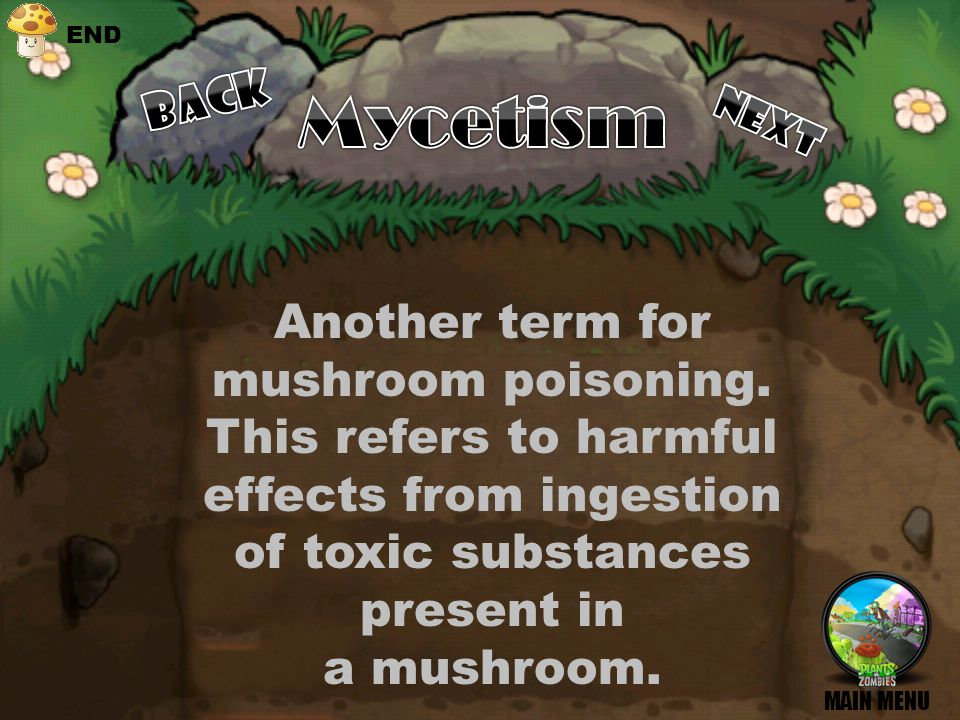 Effects, Symptoms, treatments What are the effects of eating those mushrooms? BACK NEXT MENU END