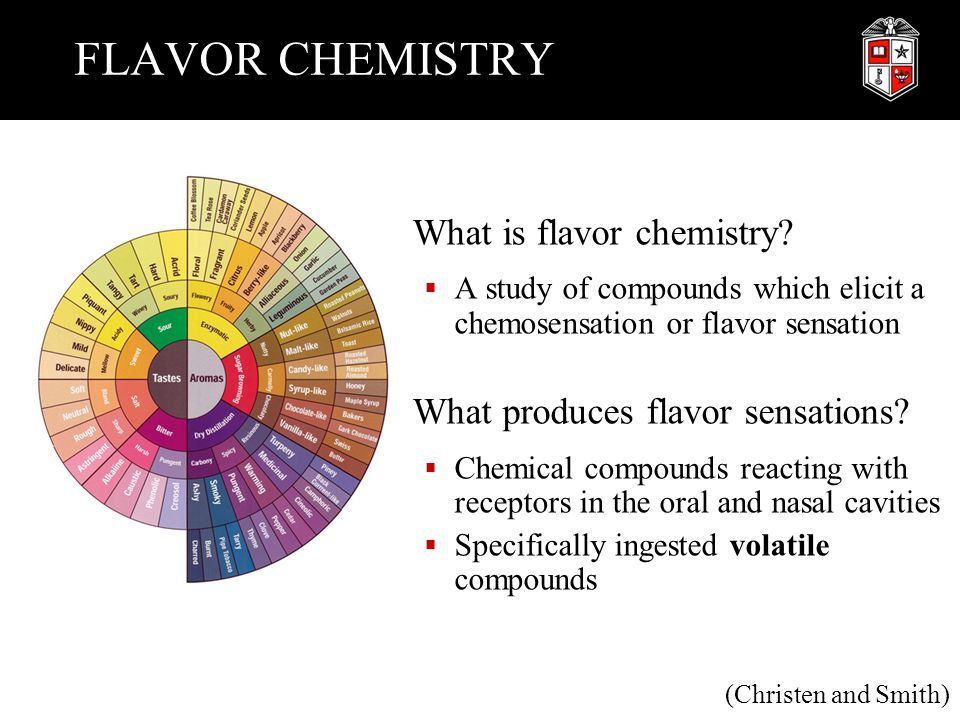 FLAVOR CHEMISTRY What is flavor chemistry?  A study of compounds which elicit a chemosensation or flavor sensation What produces flavor sensations? 
