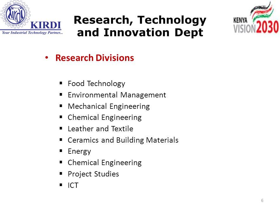 Contact information Kenya Industrial Research & Development Institute (KIRDI) South C Campus, Popo Road, P.